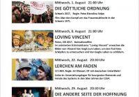 Sommerlust auf Lichtspielabend auf dem Bio Hof Vogt 1.August, 8.August, 22. August und 29. August 2018